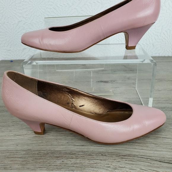 Baby Pink Leather Heels | Poshmark